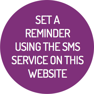 Set a reminder using the sms service on this website